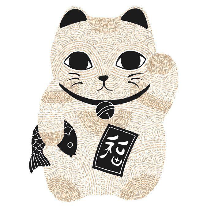 Cre By Cataddict247 Catart Catstagram Catshirts Catapparel Lucky Cat Maneki Neko Neko