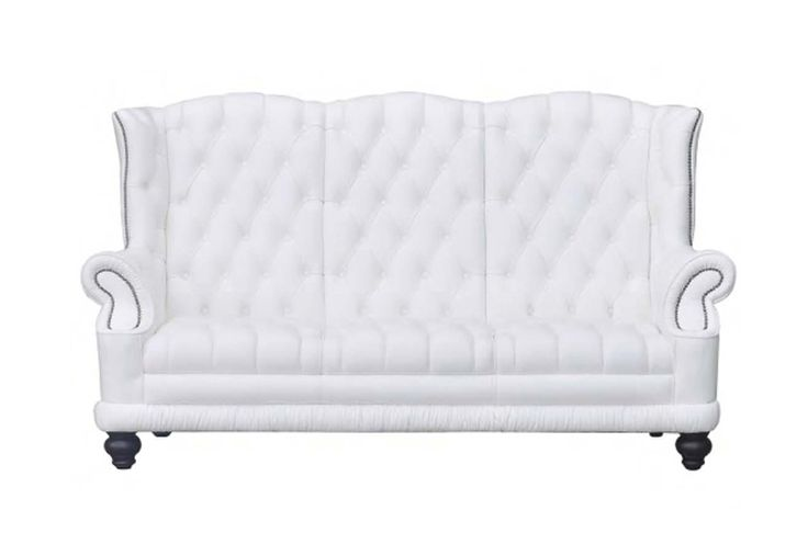 Snow White | Description: Let in the calm of the Mediterranean with the Snow White Sofa. With its solid wood frame and seat cushions with of high density foam for individual support, the sturdiness of the sofa on metal legs is ideal for families with kids. The sofa can be upholstered in leather.