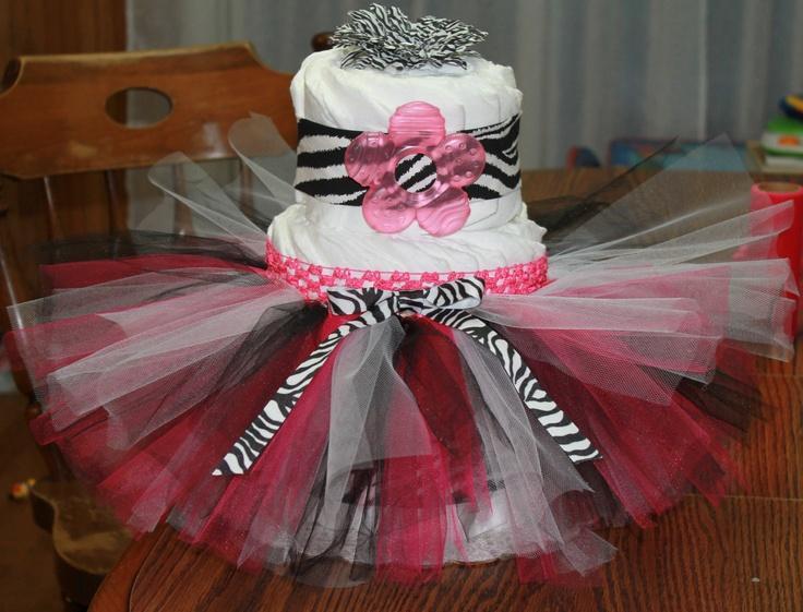 tutu diaper cake for Tyler's baby girl :) @Kayla Kearney