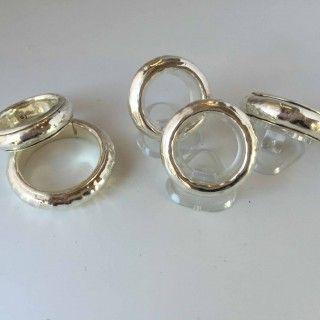 Jenny Whitmore Jewellery Anticlastic Rings  Fine Silver $160-