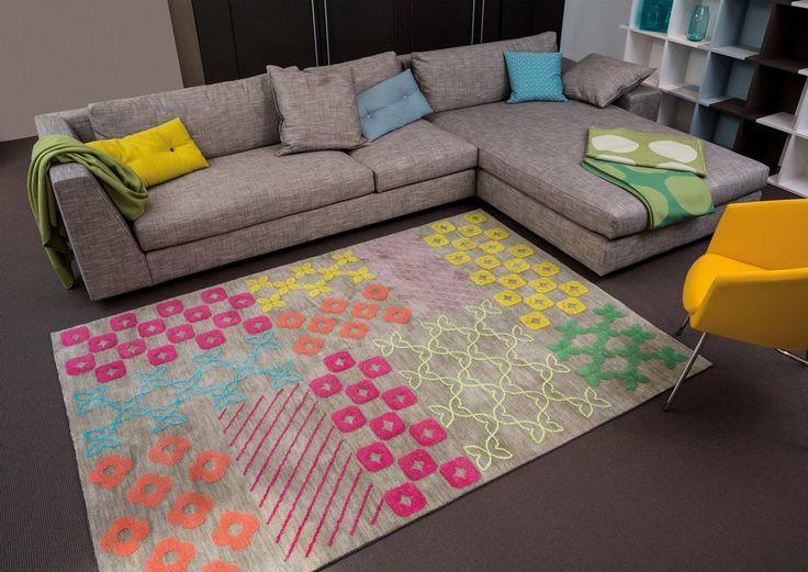 tapis bambou arte espina pour salon gris pattern book - Bambou Color