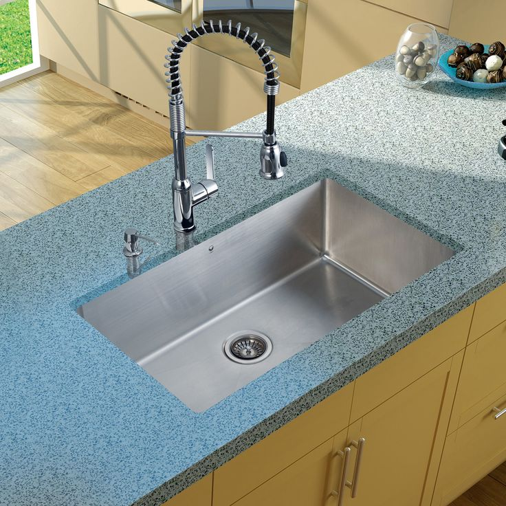 vigo undermount stainless steel kitchen sink u0026 pull down faucet soap dispenser