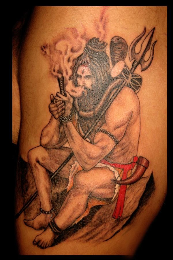 Baba Bhole Nath Shiv Sankar ji Mahadev Smoking Lord Shiva Tattoos Art Stylish or Creative Designs & Illustration