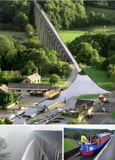 Pontcysyllte Aqueduct in Wales, designed by engineer Thomas Telford