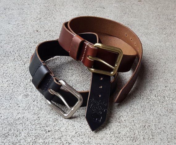 Leather Belt  Men's Belt  Horween by BuffaloLeatherGoods on Etsy