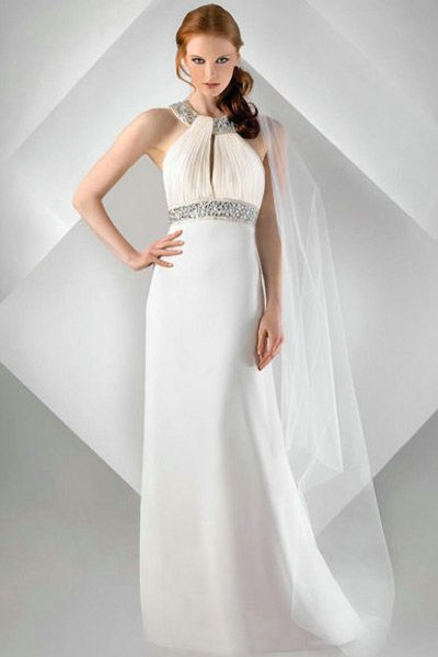 30 Beach Wedding Gowns - Bari Jay.  Visit www.vermontjewel.com for fabulous bridal jewelry or at Renaissance Fine Jewelry in Brattleboro, Vermont.