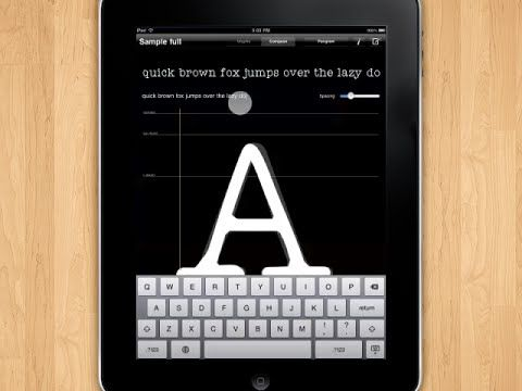 iFontMaker – The First & Fastest Font Editor for iPad