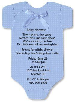 Nice Baby Shower Invitations   Blue Onesies:Amazon:Office Products