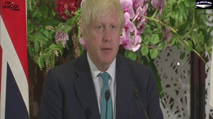 Boris Johnson Speaks in Tokyo, Japan