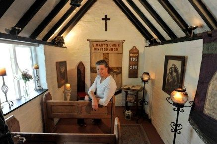 the Haunted Chapel owned by Jamie Taylor ♥♥ in Warwickshire beat three other impressive shortlisted sheds to become winner of Best Unexpected Shed for his hidden 150 year old shed