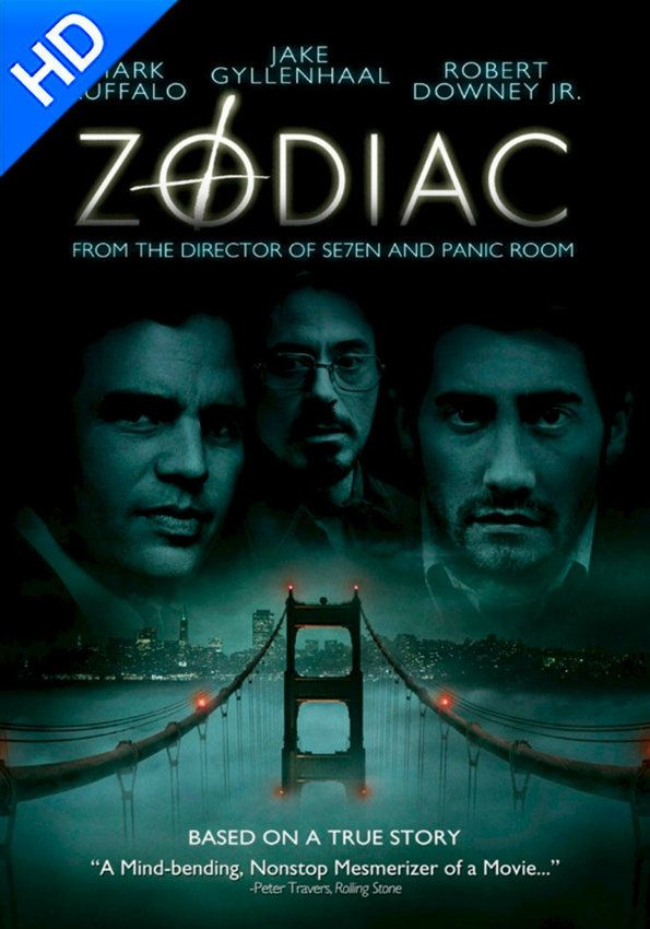 David Fincher's electrifying thriller about the real-life notorious Zodiac, a serial killer who terrorized San Francisco with a string of seemingly random murders during the 1960s and 1970s. Based on the book by Robert Graysmith.