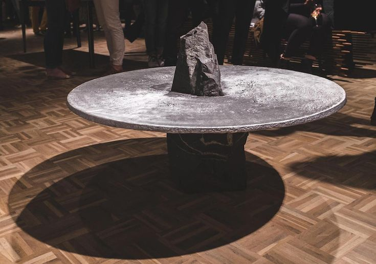 lunar table jesse ede aluminum smelting aluminum table moon table smelted