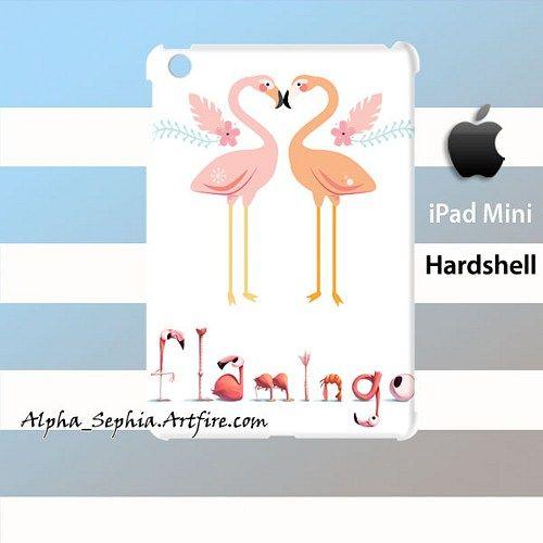 Flamingo Love iPad Mini Case Cover Hardshell