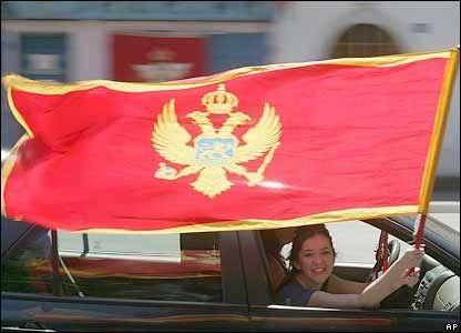 Montenegro flag face -