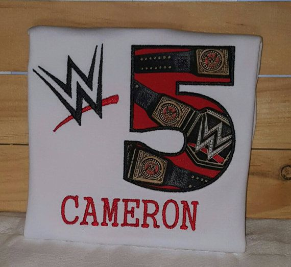 WWE birthday shirt by NBCR8TIONS on Etsy