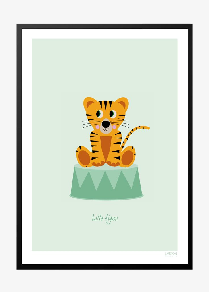 Børneplakat med tiger