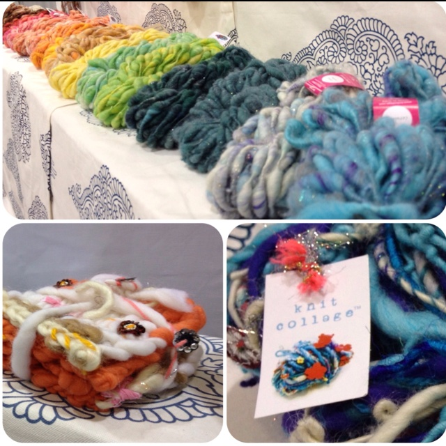I would die to take a KNIT COLLAGE spinning workshop! um weekend!  http://www.nobleknits.com/products/Knit-Collage-Gypsy-Garden-Yarn.html
