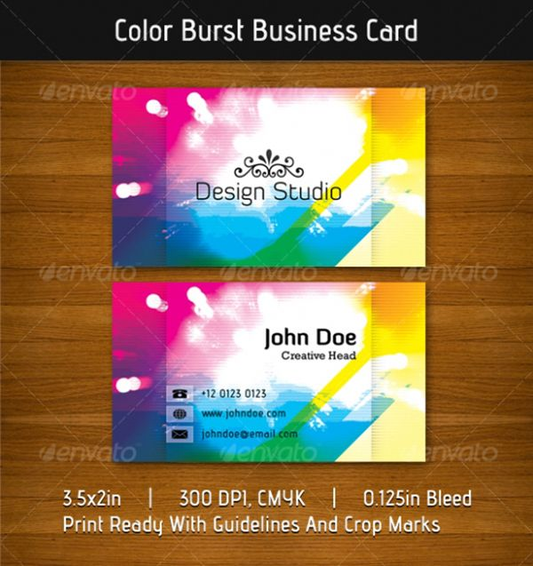 28 best premium business cards images on pinterest premium a vibrant energetic and colorburst business card templates print ready files available for download reheart Images