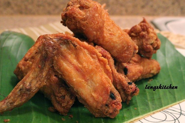 three fried chicken wings | Crispy Curry Fried Chicken Wings 香脆咖喱粉炸鸡翼 Mom's Recipe ...