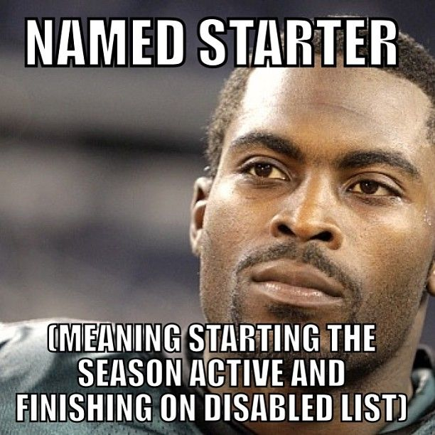 #starter #vick #eagles #philly #philadelphia #giants #ny #cowboys #redskins #qb nfl #nflmemes #meme #memes football #dl