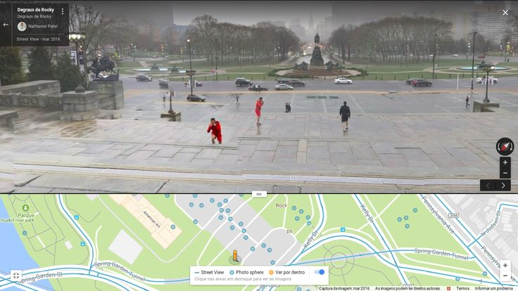 You can see people doing the Rocky Balboa run at the Philadelphia Museum of Art on Street View