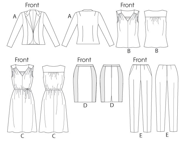 McCall's Pattern: M6711 Misses' Lined Jacket, Top, Dress, Lined Skirt, & Pants — jaycotts.co.uk - Sewing Supplies