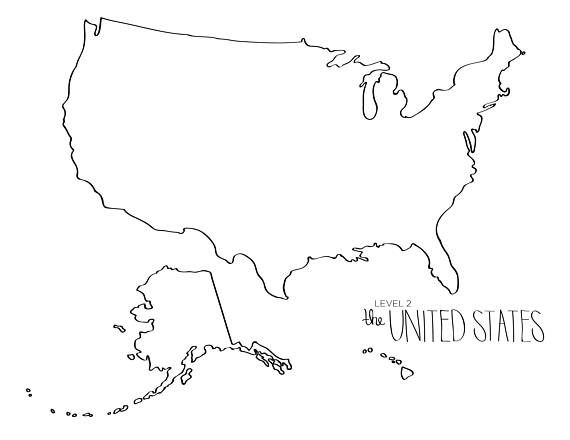 Learn To Draw The United States Blob Map Style Etsy Learn To Draw Map Draw