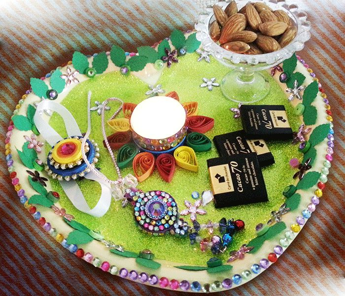 How to decorate Rakhi Thali at home