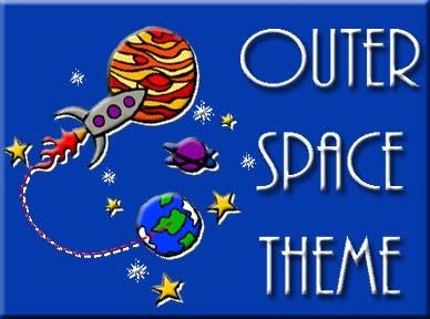 Preschool Space Theme: great space books and sensory bin!
