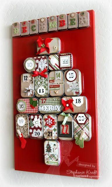 EL MUNDO DEL RECICLAJE: DIY Calendario de Adviento con material reciclado