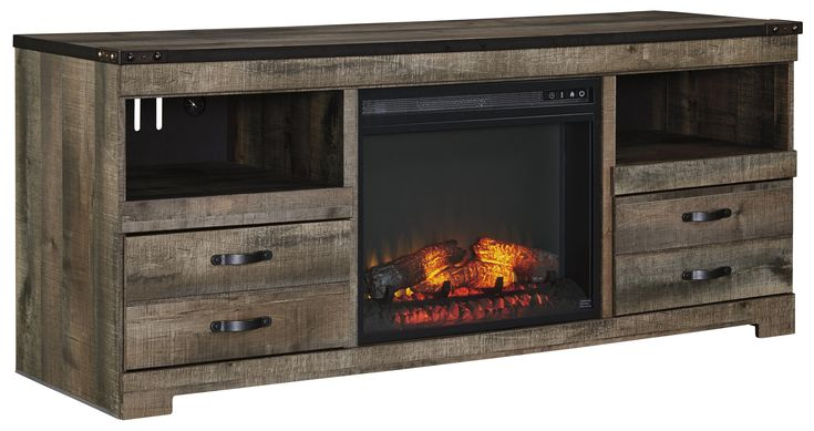 Trinell Large TV Stand with Fireplace Insert by Signature Design by Ashley