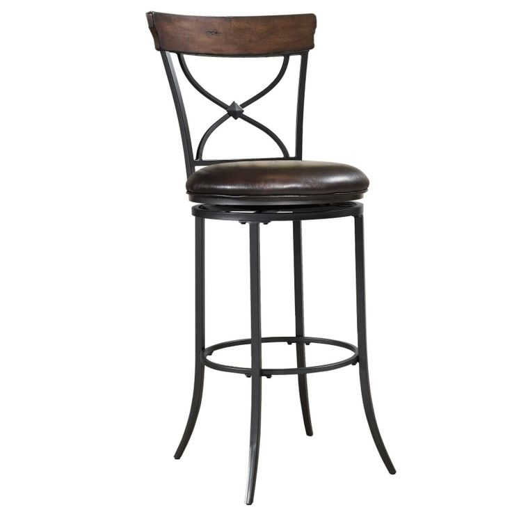 silver metal brown leather bar stools in the high design of catchy in metal bar stools