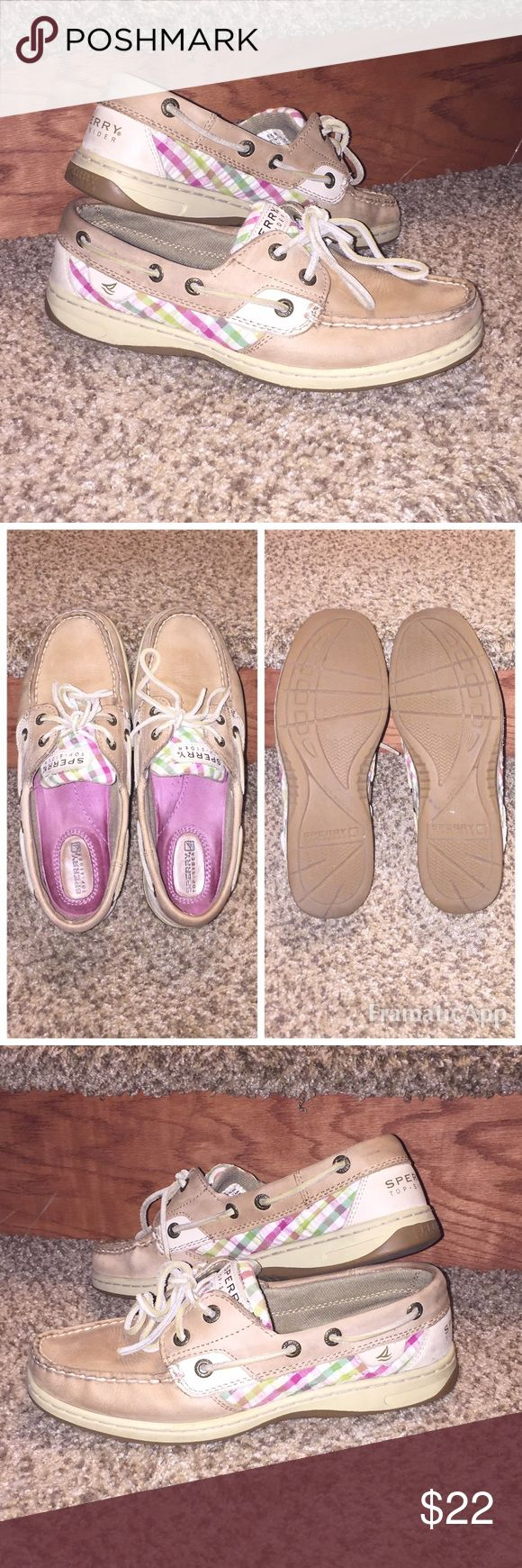 Women's Sperry Bluefish Shoe Gently used, still have a lot of life! No major scuffs, stains, or marks.  Tread in good condition. I always wore socks, so no stinky foot smell! Stored in box when not in use and will send original box if purchased. Sperry Top-Sider Shoes