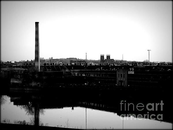 Riverside Industrialism - photograph by James Aiken. Fine art prints and posters for sale. #jamesaiken #blackandwhitephotography #industrialism