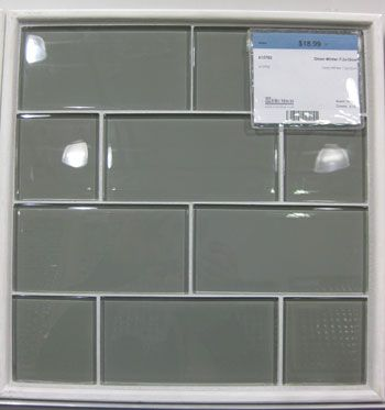 Gray glass subway tile - backsplash