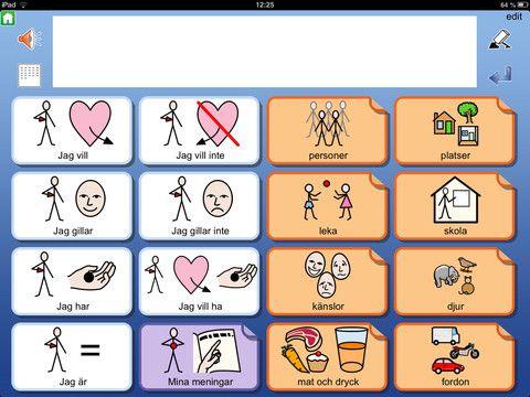 I Widgit Go SE kan man skapa upplägg att använda för kommunikation, språkutveckling och stimulans. I Widgit Go har man också möjlighet att skriva enkla dokument med symboler och text från symboltavlor. 10 exempel på upplägg ingår. HELA symbolbasen Widgitsymboler med 12000 symboler på svenska ingår. Upplägg kan både skapas och användas utan tillgång till Internet.