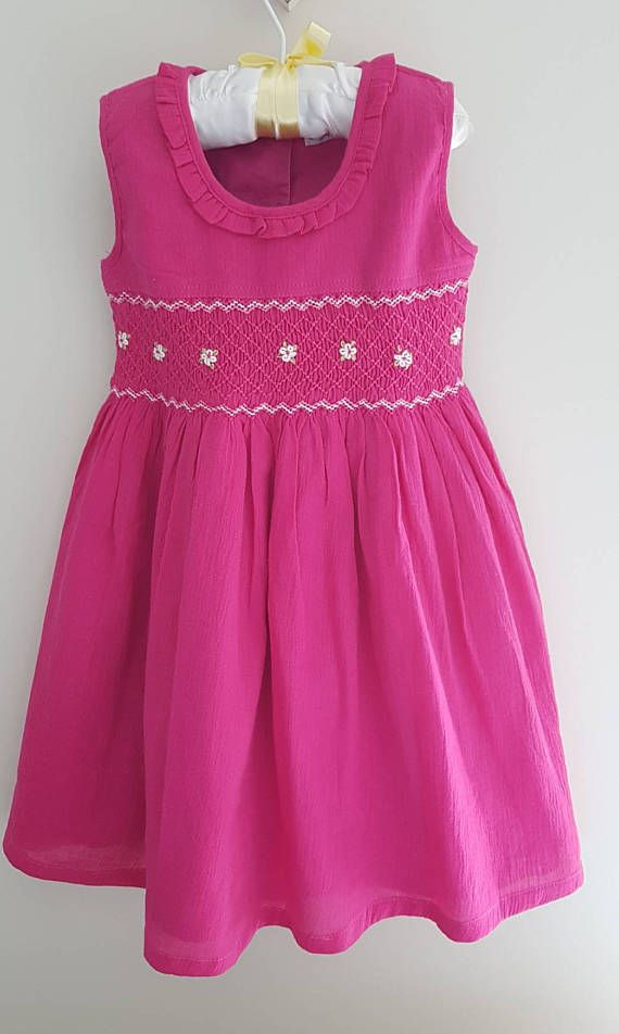 Check out this item in my Etsy shop https://www.etsy.com/au/listing/278319174/beautiful-pink-hand-smocked-girls-dress