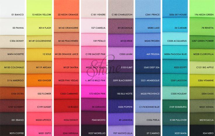 2017 Stretch Italian Linel Lucido/Shiny Colour Range | Shine Trimmings & Fabrics