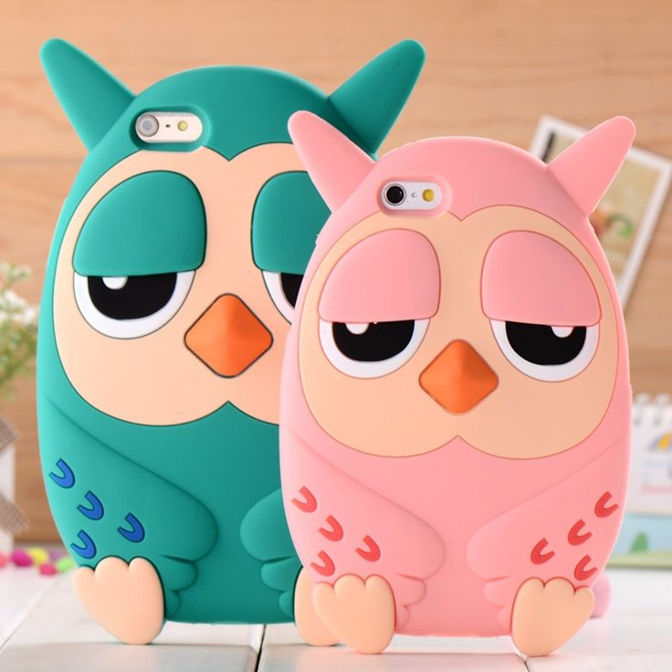 3D owl phone case for iphone 4 / 4s/ 5 / 5s 6 / 6 plus Cartoon silicone mobile phone case