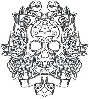 colouring in skull caldevera - Sugar Skull Tattoo Coloring Pages