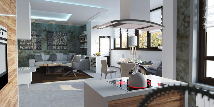 Дизайн интерьера кухни-гостиной в центре Минска #interiordesign #design