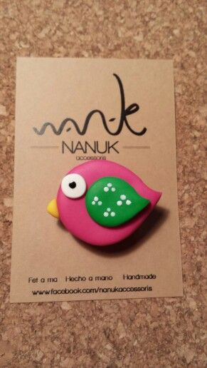Broche hecho a mano de NANUK accessoris.  www.facebook.com/nanukaccessoris