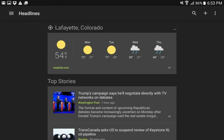 How to change language editions and customize your News And Weather app in Android...