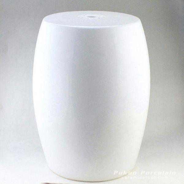 Garden furniture for sale Plain White Ceramic Stool