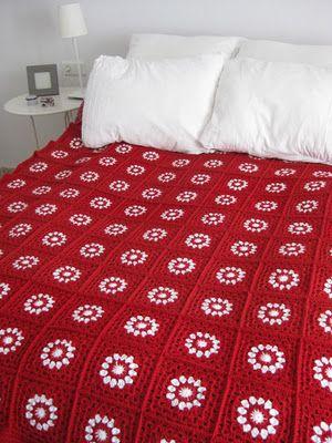 Cubre Crochet: Manta de la Navidad .... ❥Teresa Restegui http://www.pinterest.com/teretegui/ ❥