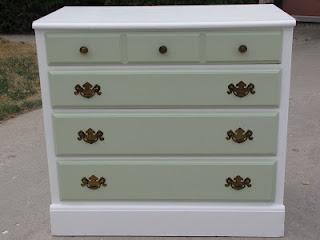 Old dresser into change table/baby room dresser