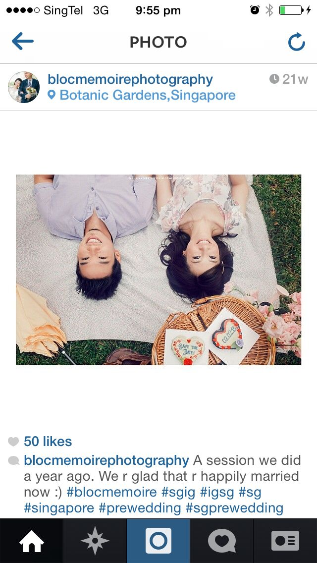 Pre-wedding shot-same like field/botanic gardens