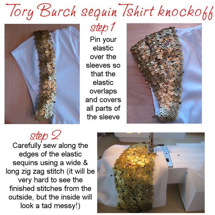 DIY fridays – Tory Burch sequin T-shirt knockoff - megan nielsen design diary