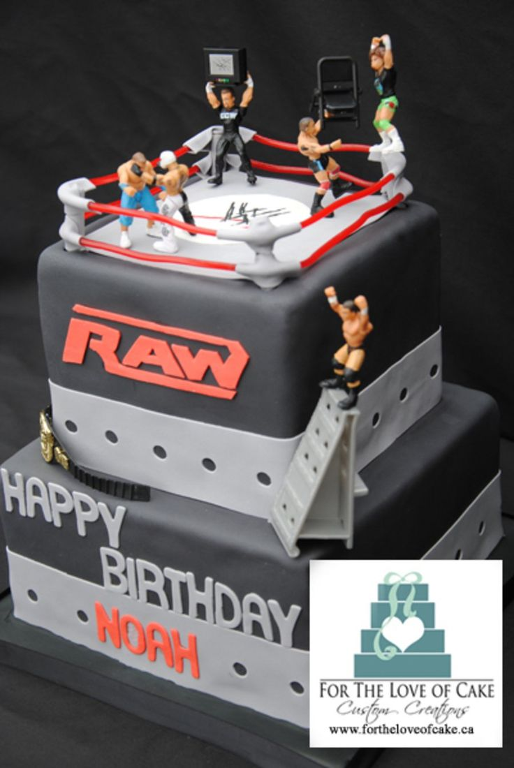 Wwe Raw Wrestling Cake Toronto This birthday cake was for a little boy in Toronto who love WWE wrestling.