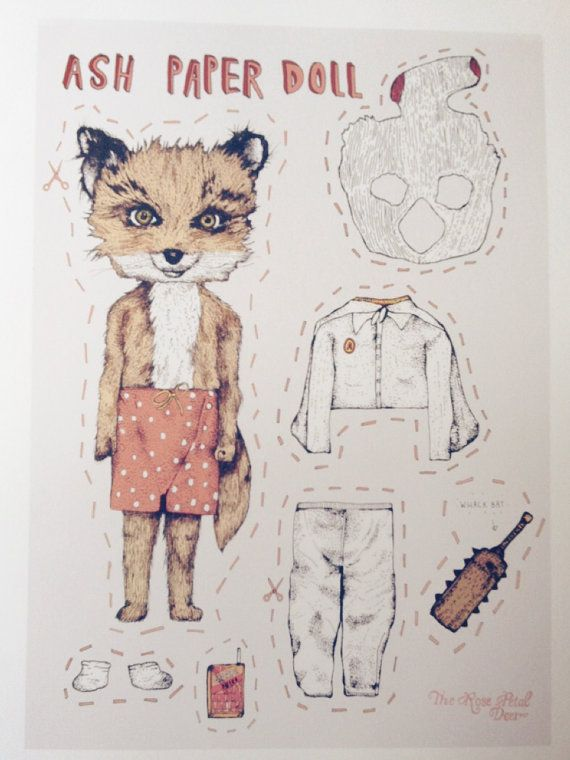 Limited Edition cute Ash Fantastic Mr Fox Paper by rosepetaldeer